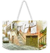 A Glimpse Of A House With Hanging Clothes Weekender Tote Bag