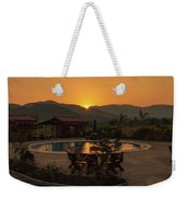 A Golden Sunset In Loas Weekender Tote Bag