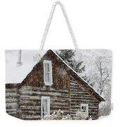 A Golden Winter Weekender Tote Bag