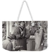 A Goldsmith's Shop In 15th Century Italy Weekender Tote Bag