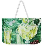 A Gourmet Cover Of Glassware Weekender Tote Bag