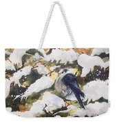 A Gray Jay Kind Of Day Weekender Tote Bag