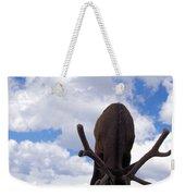 A Grazing Bull Elk Up Close Weekender Tote Bag