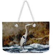A Great Blue Heron At The Spokane River 2 Weekender Tote Bag