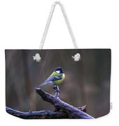 A Great Tit In The Rain Weekender Tote Bag