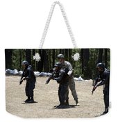 A Green Beret Instructs Tigres Trainees Weekender Tote Bag