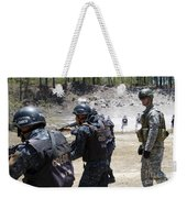 A Green Beret Walks With Tigres Weekender Tote Bag