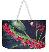 A Green Gecko Weekender Tote Bag
