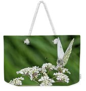 A Green-veined White (pieris Napi) Weekender Tote Bag by John Edwards