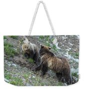 A Grizzly Moment Weekender Tote Bag