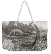 A Group Of Brontosaurs, Or Thunder Weekender Tote Bag