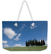 A Group Of Cypress Trees Dot A Tuscan Weekender Tote Bag