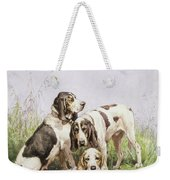 A Group Of French Hounds Weekender Tote Bag