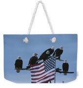 A Group Of Northern American Bald Weekender Tote Bag