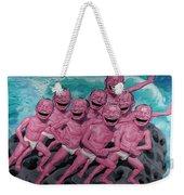 A Group Of People Laugh Weekender Tote Bag