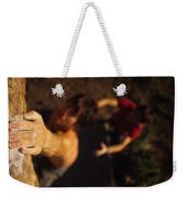A Hand Catches A Hand Hold On A Boulder Weekender Tote Bag