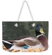 A Handsome Mallard Weekender Tote Bag