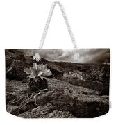 A Hard Existence - Sepia Weekender Tote Bag
