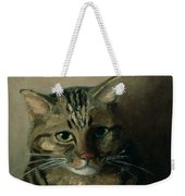 A Head Study Of A Tabby Cat Weekender Tote Bag