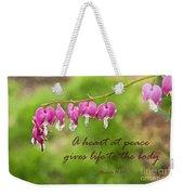 A Heart At Peace Weekender Tote Bag