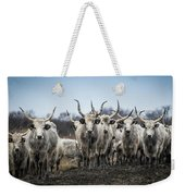 Grey Cattle Herd Weekender Tote Bag