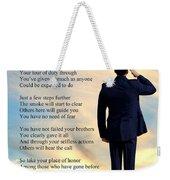 A Hero's Welcome - Air Force 1 Weekender Tote Bag