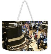 A High Angle View Of The New York Stock Weekender Tote Bag