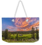 A High Dynamic Range Photo Of A Sunset Weekender Tote Bag