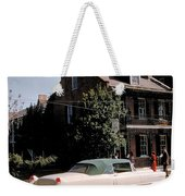 A Hot Date In A Pink Caddy Weekender Tote Bag