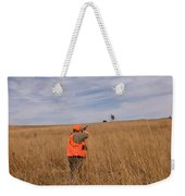 A Hunter Shoots A Ring Necked Pheasant Weekender Tote Bag