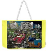 A I P Monster Movie Marathon At The Twilight Drive - In  La Porte Indiana Weekender Tote Bag