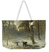 A January Evening In The Woods Weekender Tote Bag