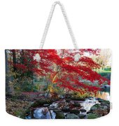 A Japanese Maple With Colorful, Red Weekender Tote Bag