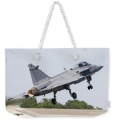 A Jas-39 Gripen Of The Swedish Air Weekender Tote Bag