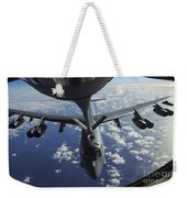 A Kc-135 Stratotanker Aircraft Refuels Weekender Tote Bag