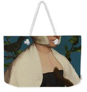 A Lady With A Squirrel And A Starling Anne Lovell Weekender Tote Bag