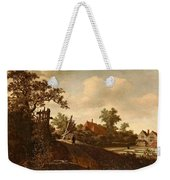 A Landscape With A Figure On A Path And A Bleaching Weekender Tote Bag