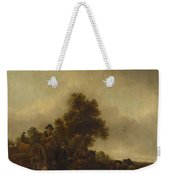 A Landscape With Peasants And A Cart Weekender Tote Bag