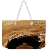 A Lifeless Planet Brown Weekender Tote Bag by ISAW Company
