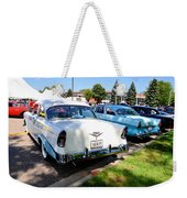 A Line Of Classic Antique Cars 3 Weekender Tote Bag