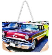 A Line Of Classic Antique Cars 9 Weekender Tote Bag