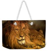 A Lion And A Lioness Weekender Tote Bag