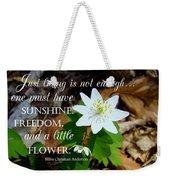 A Little Flower Weekender Tote Bag