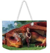 A Little Girl And Her Dragon Weekender Tote Bag