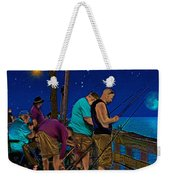 A Little Night Fishing At The Rodanthe Pier 2 Weekender Tote Bag