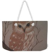 A Little Owl Weekender Tote Bag by Ginny Youngblood