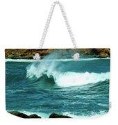 A Little Wave Action Weekender Tote Bag