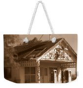 A Little Weathered Gas Station Weekender Tote Bag