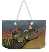 A Lone Centrosaurus Dinosaur Calling Weekender Tote Bag