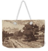 A Long Island Road Weekender Tote Bag